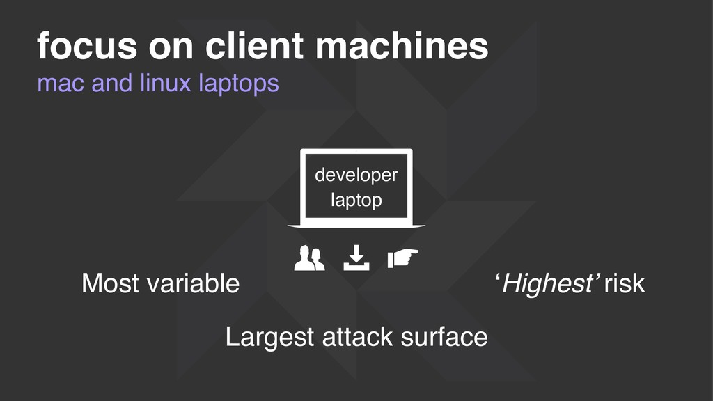 mac and linux laptops focus on client machines ...