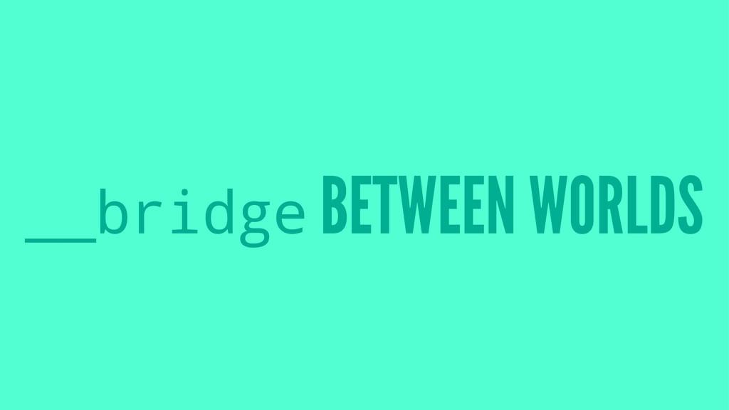 __bridge BETWEEN WORLDS