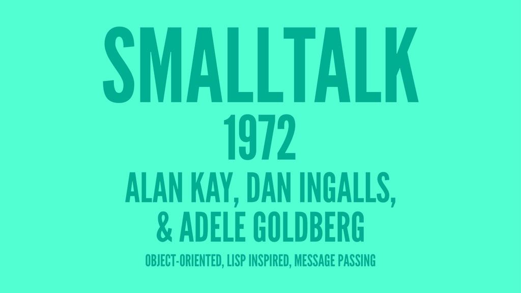 SMALLTALK 1972 ALAN KAY, DAN INGALLS, & ADELE G...