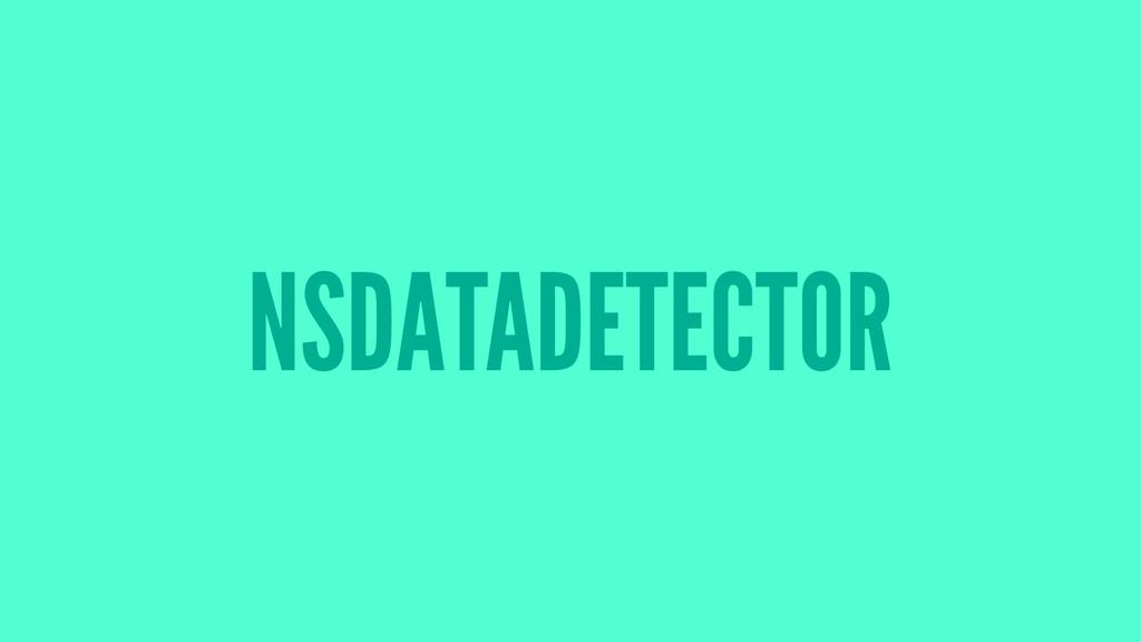 NSDATADETECTOR