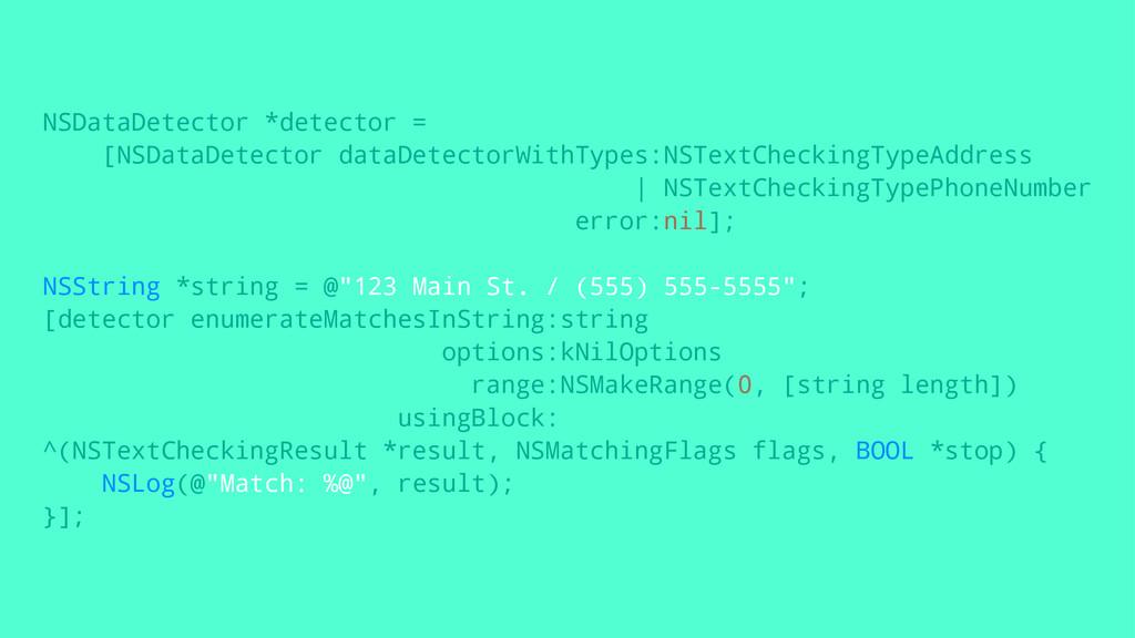 NSDataDetector *detector = [NSDataDetector data...