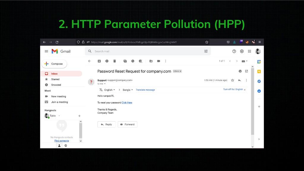 2. HTTP Parameter Pollution (HPP)