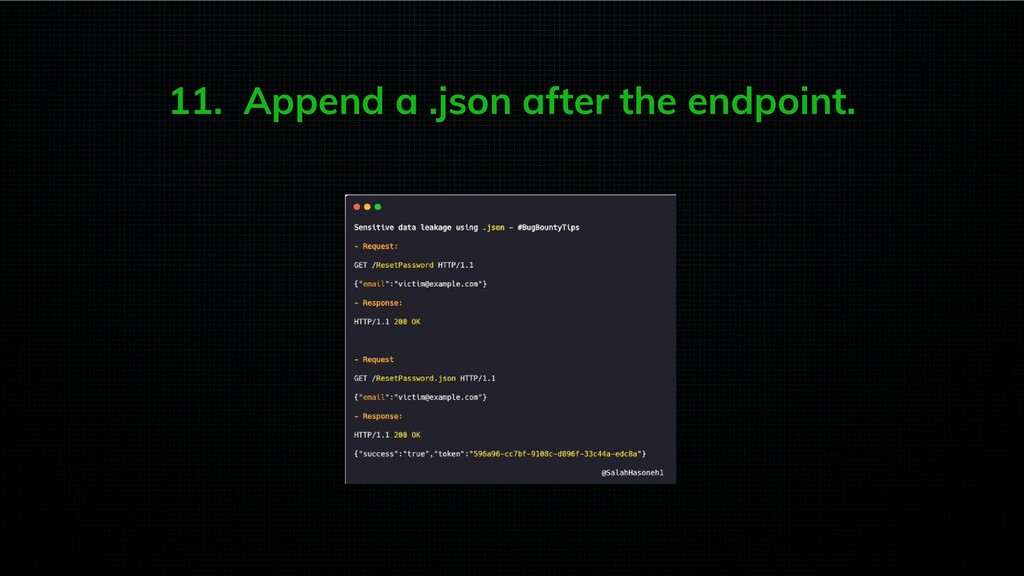 11. Append a .json after the endpoint.