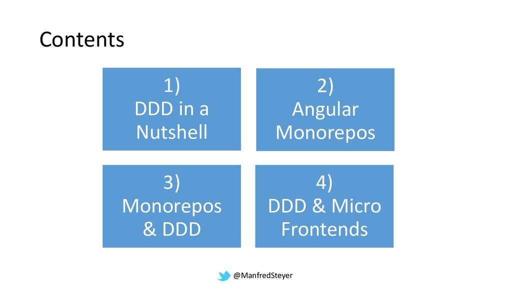 @ManfredSteyer Contents 1) DDD in a Nutshell 2)...