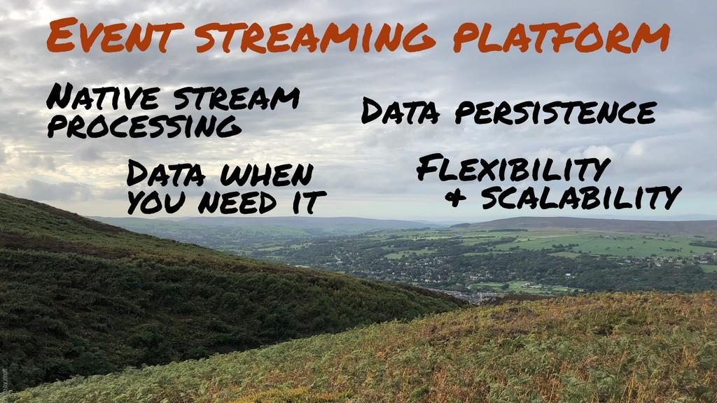 Event streaming platform Flexibility & scalabil...