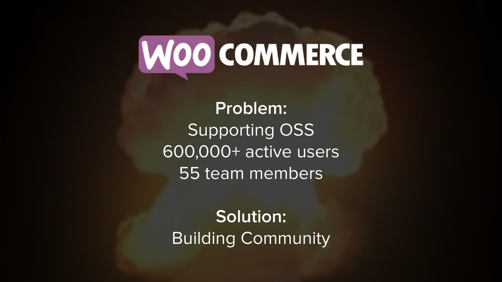 Problem: Supporting OSS 600,000+ active users 5...
