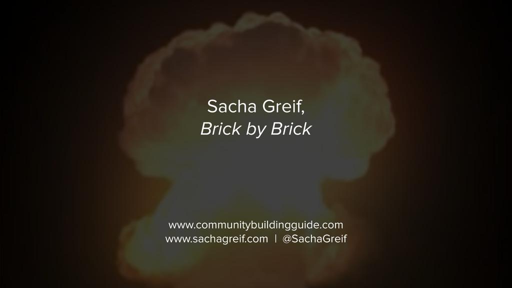 Sacha Greif,  Brick by Brick www.communitybuil...