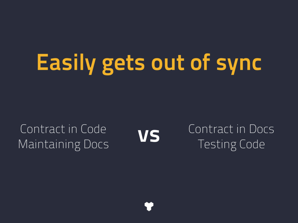 Easily gets out of sync Contract in Code Mainta...