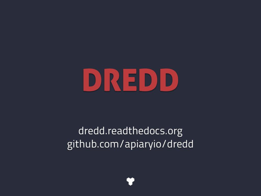 dredd.readthedocs.org github.com/apiaryio/dredd...