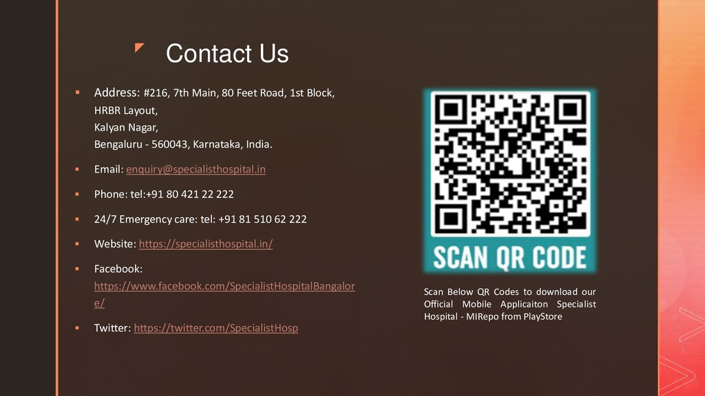 z Contact Us  Address: #216, 7th Main, 80 Feet...