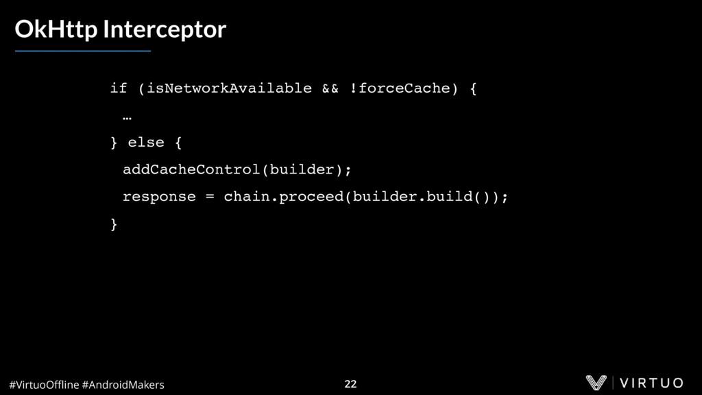 #VirtuoOffline #AndroidMakers 22 OkHttp Intercept...