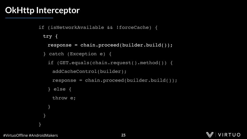 #VirtuoOffline #AndroidMakers 23 OkHttp Intercept...