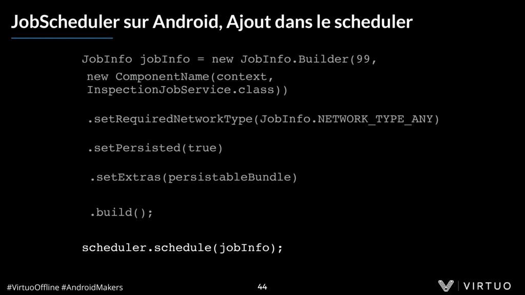 #VirtuoOffline #AndroidMakers 44 JobScheduler sur...