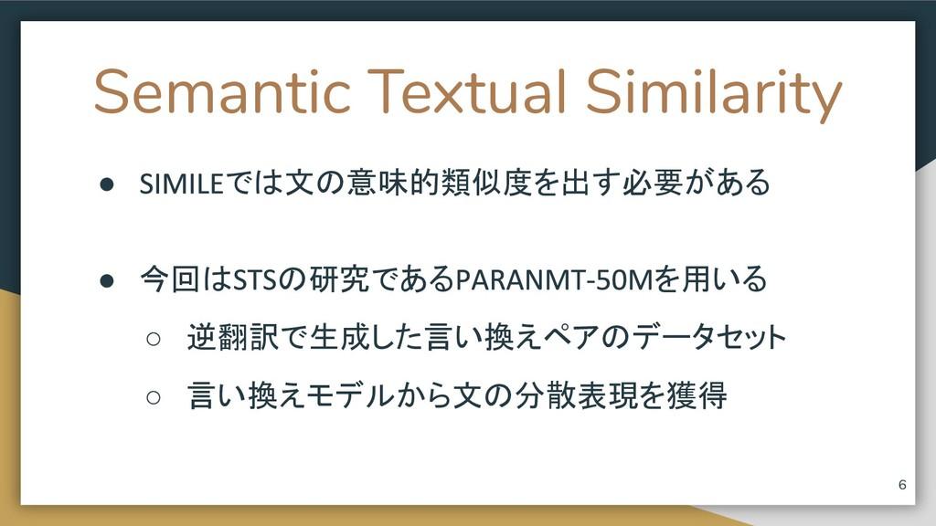 Semantic Textual Similarity ● では文の意味的類似度を出す必要があ...