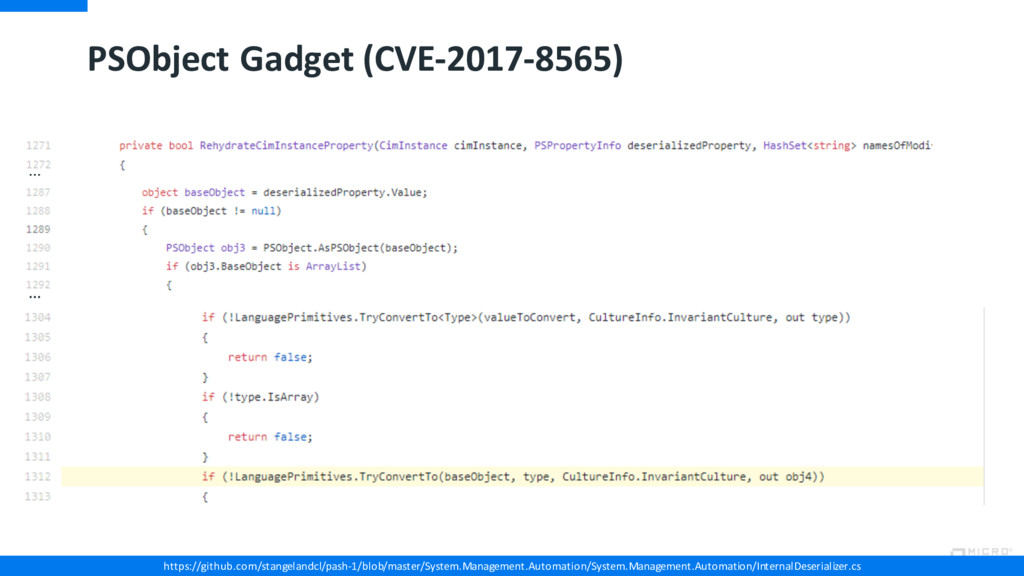 PSObject Gadget (CVE-2017-8565) https://github....