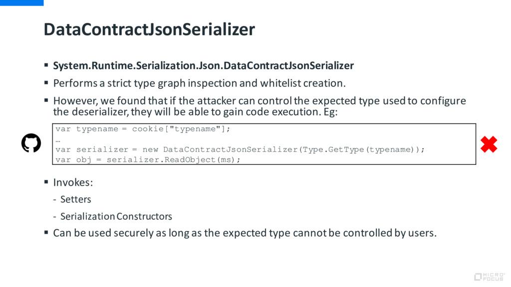 DataContractJsonSerializer § System.Runtime.Ser...