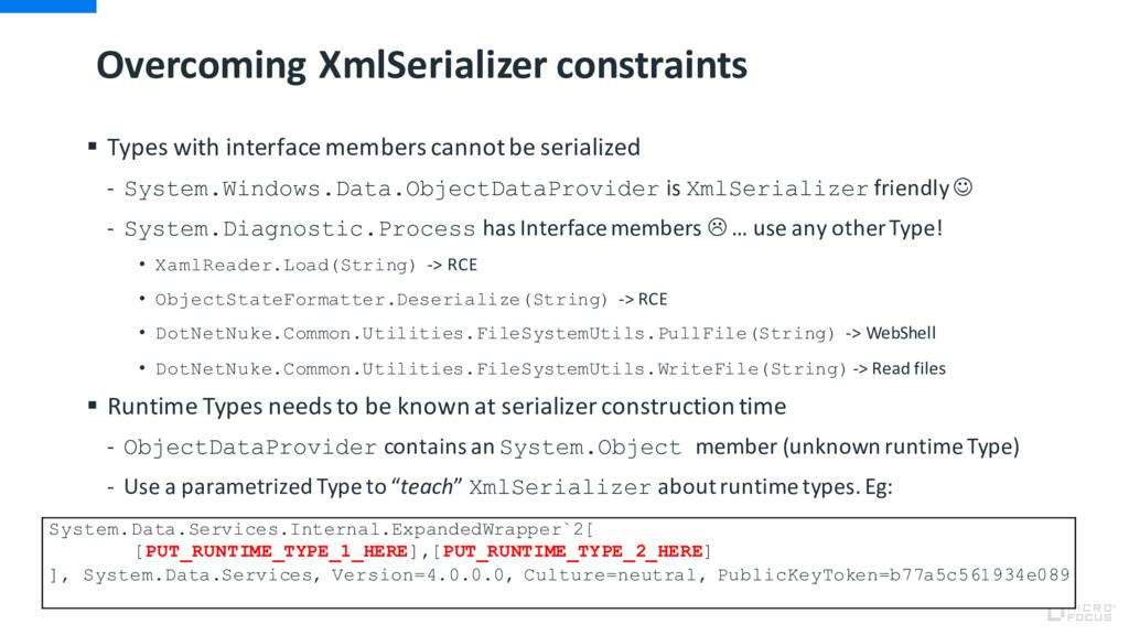 Overcoming XmlSerializer constraints § Types wi...