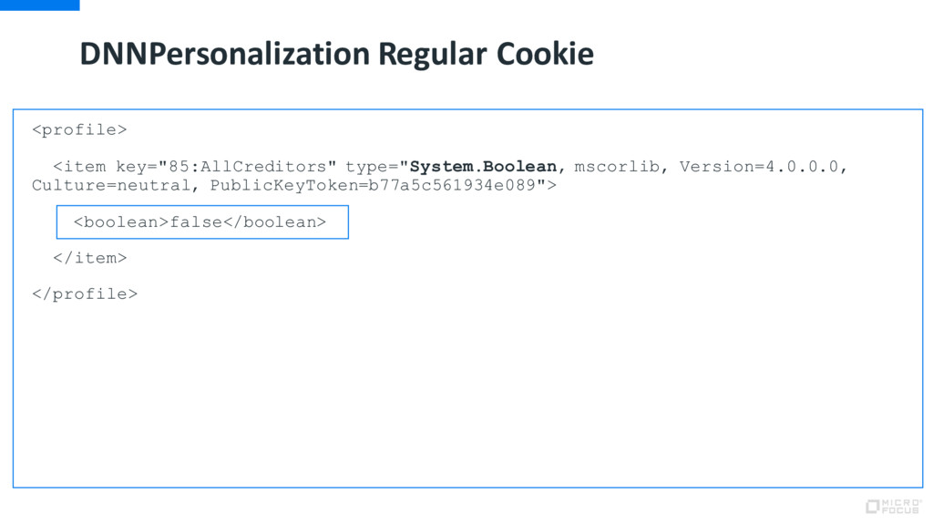 DNNPersonalization Regular Cookie <profile> <it...