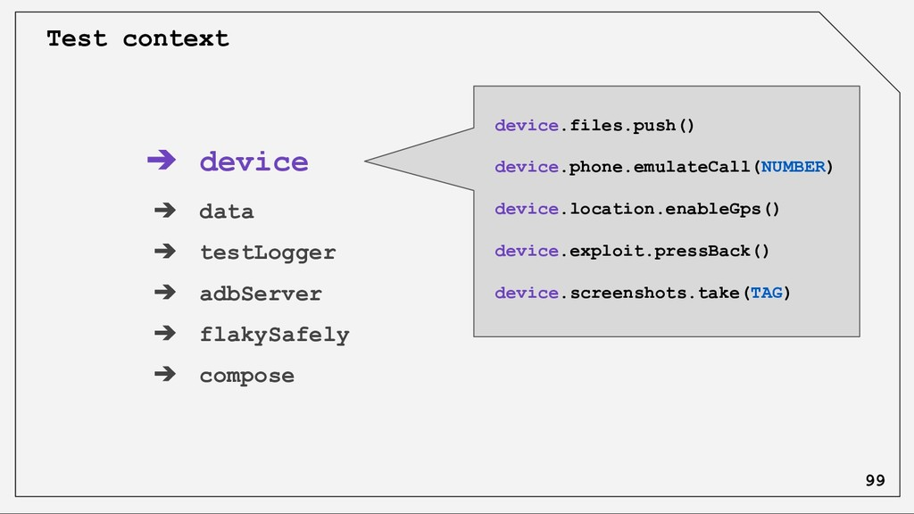 ➔ device ➔ data ➔ testLogger ➔ adbServer ➔ flak...