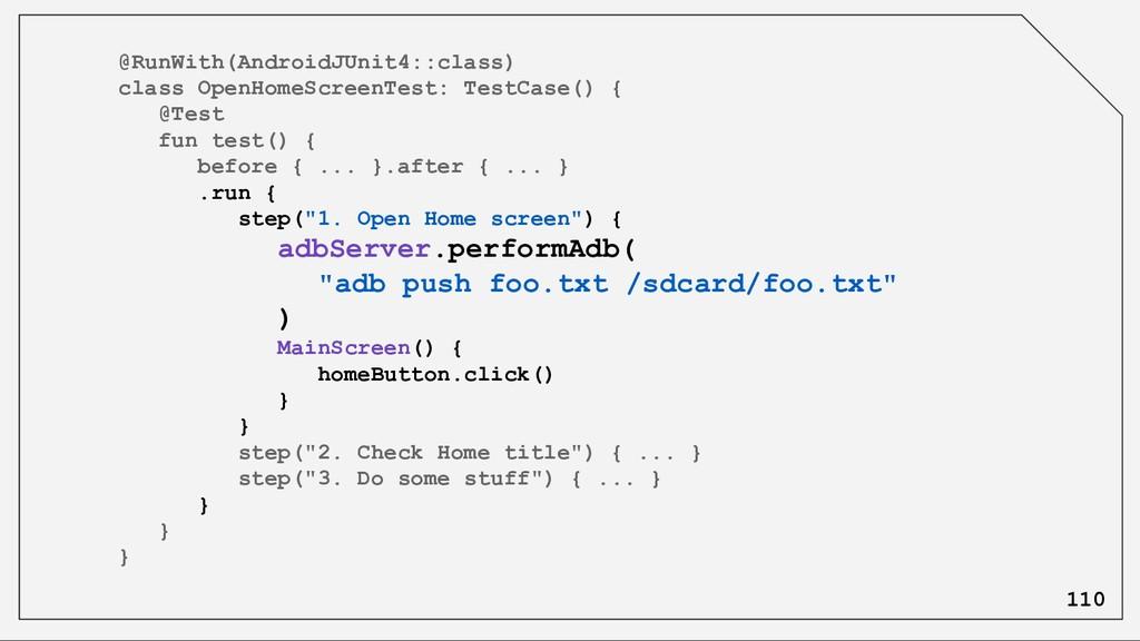 @RunWith(AndroidJUnit4::class) class OpenHomeSc...