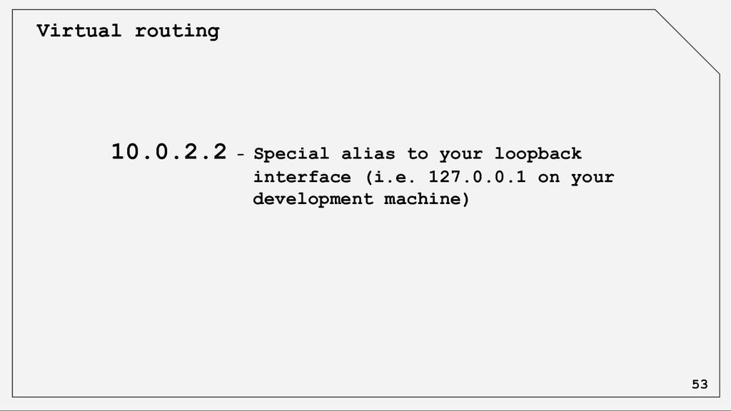 Virtual routing 10.0.2.2 - Special alias to you...