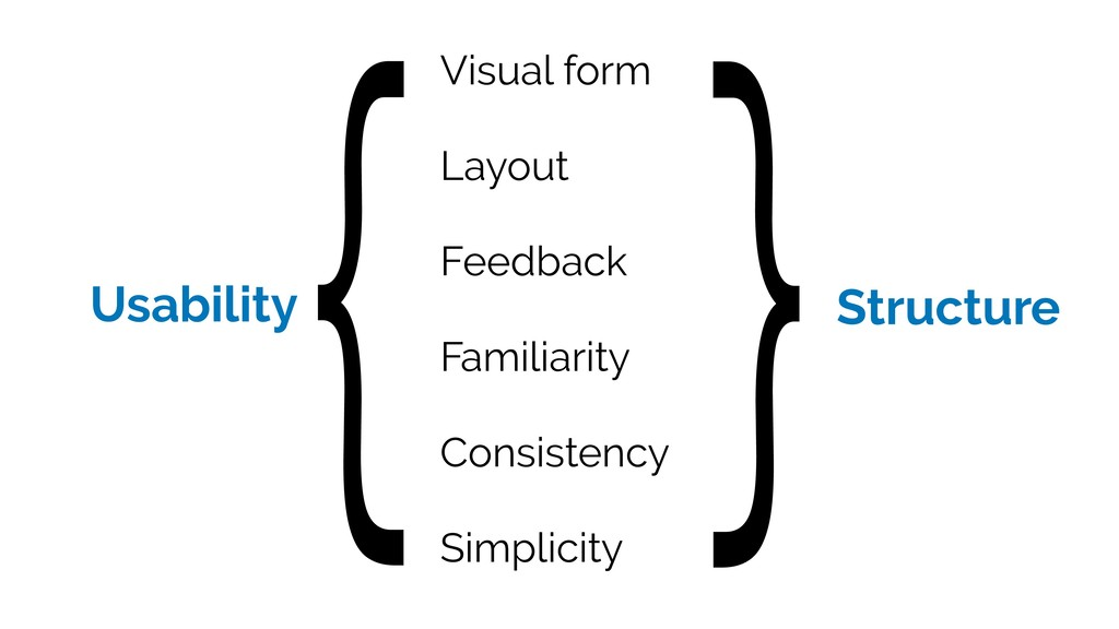 Usability Visual form Layout Feedback Familiari...