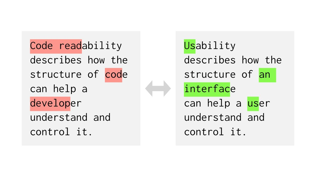 Code readability describes how the structure of...