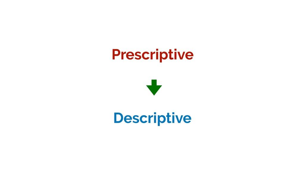 Prescriptive Descriptive