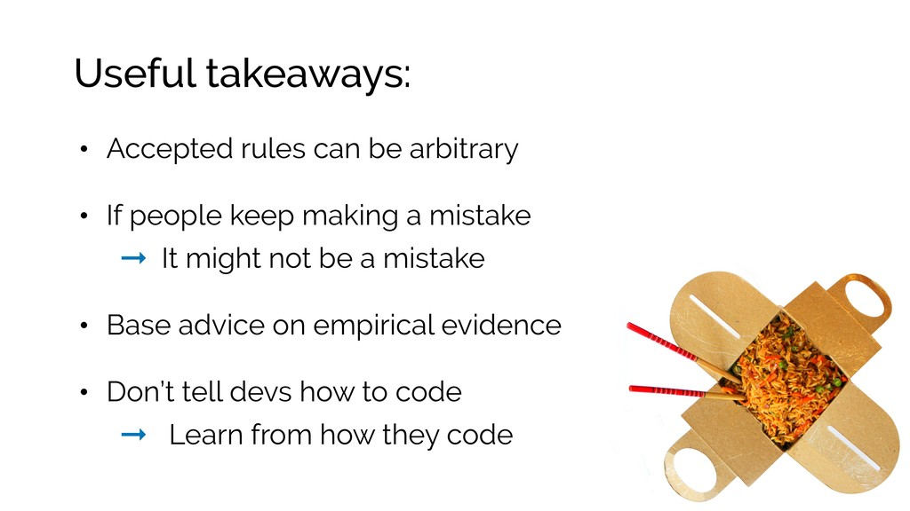 Useful takeaways: • Accepted rules can be arbit...