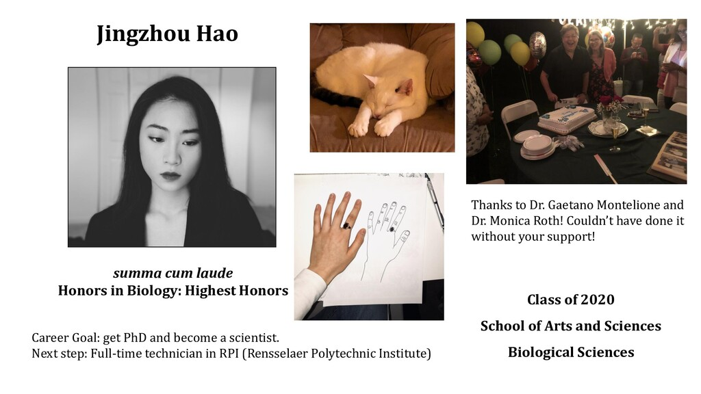 Jingzhou Hao Class of 2020 School of Arts and S...