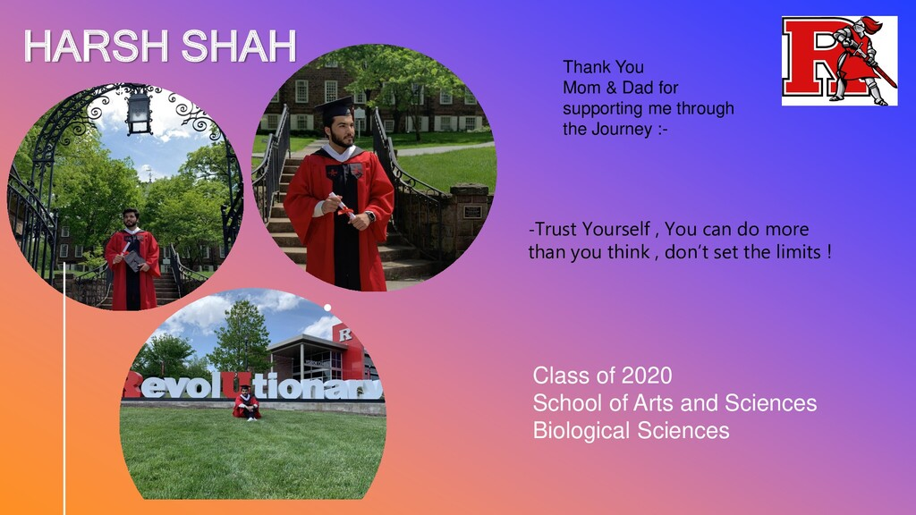 HARSH SHAH Class of 2020 School of Arts and Sci...