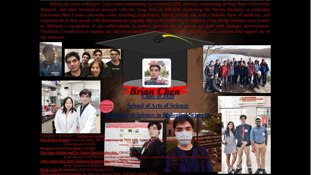 Brian Chen Graduated with Honor- Magna Cum Laud...