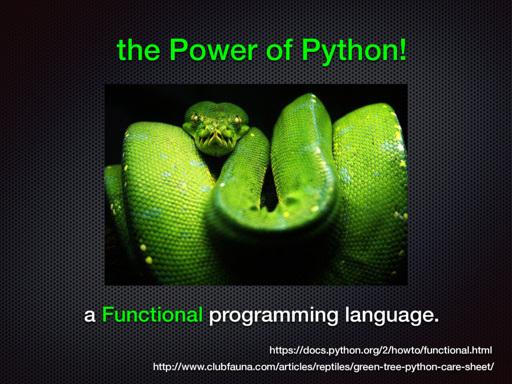 the Power of Python! http://www.clubfauna.com/a...
