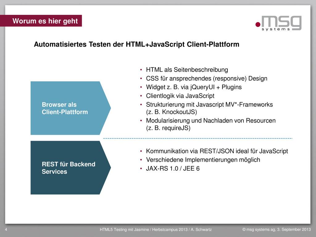 © msg systems ag, 3. September 2013 HTML5 Testi...