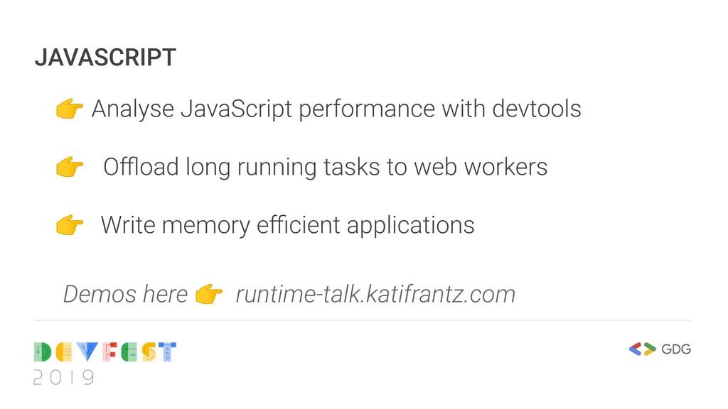 JAVASCRIPT  Analyse JavaScript performance with...