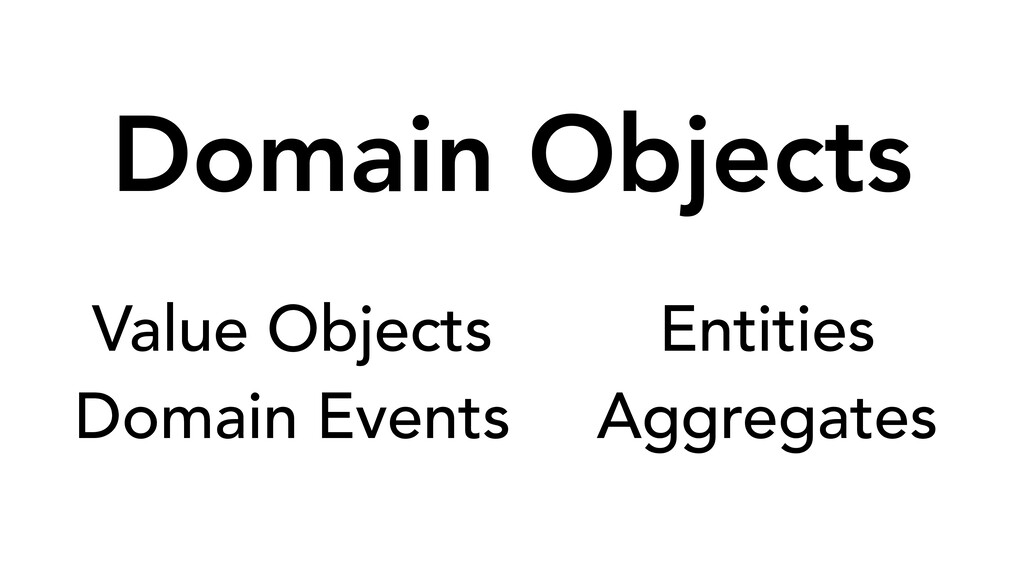 Domain Objects Value Objects Domain Events Enti...
