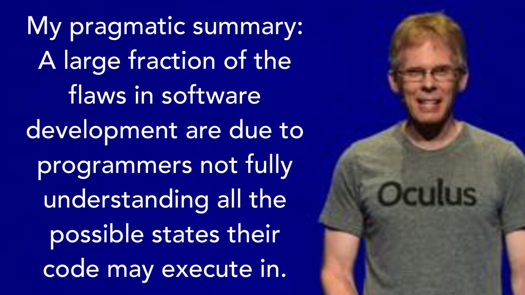 My pragmatic summary: A large fraction of the f...