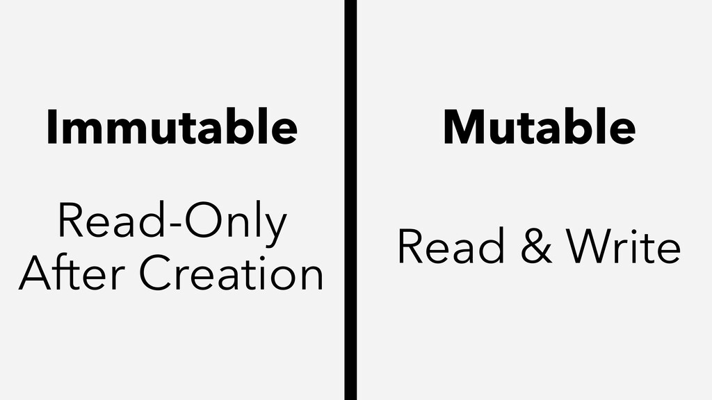 Mutable Immutable Read-Only After Creation Read...