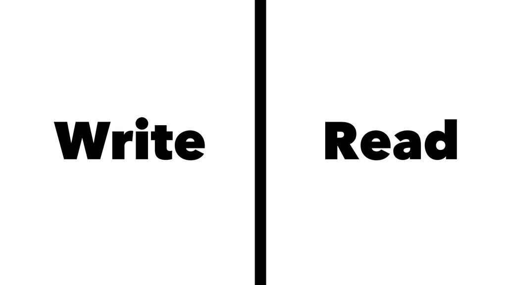 Write Read