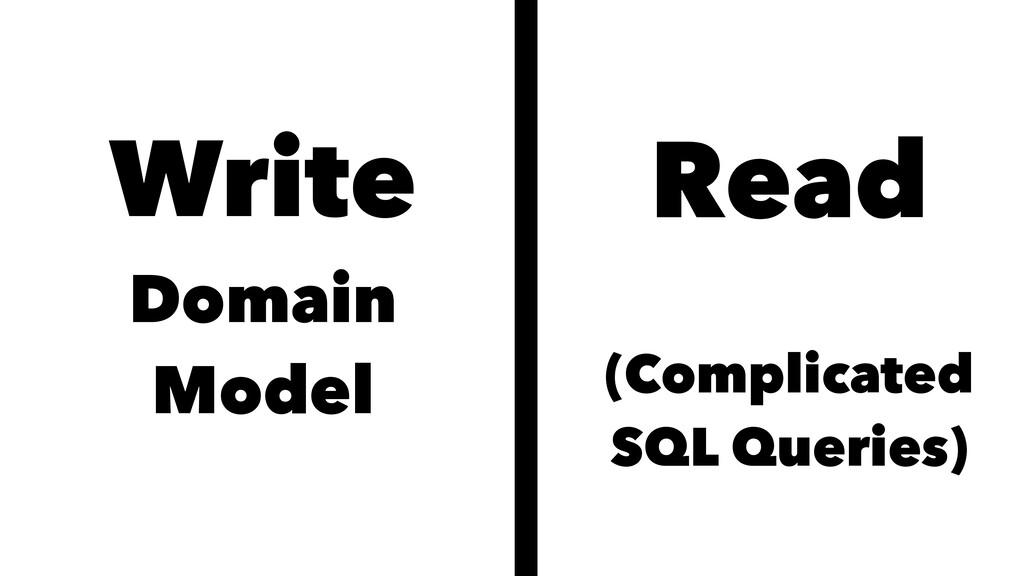 Write Domain Model Read (Complicated SQL Querie...