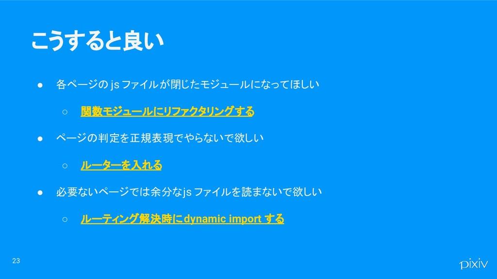 ● 各ページの js ファイルが閉じたモジュールになってほしい ○ 関数モジュールにリファクタ...