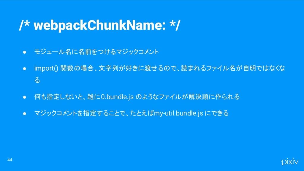 ● モジュール名に名前をつけるマジックコメント ● import() 関数の場合、文字列が好き...