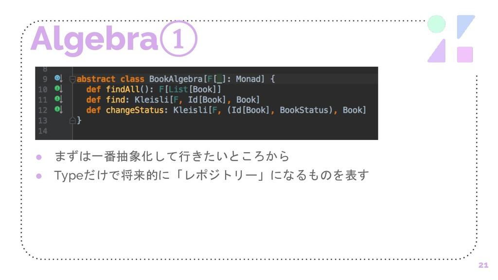 "Algebra① 21 ●   %#)!' ● Type""$&..."