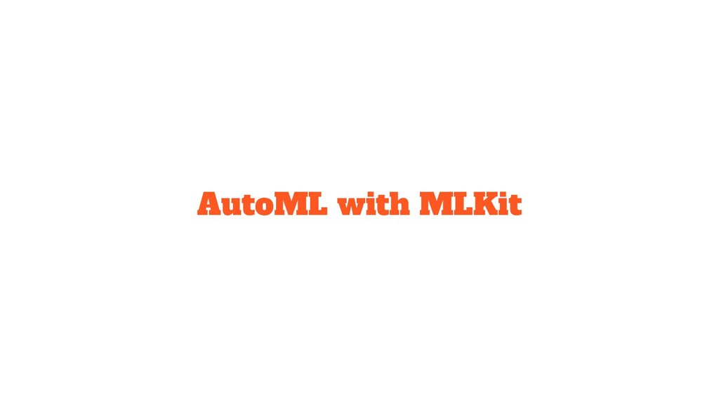 AutoML with MLKit