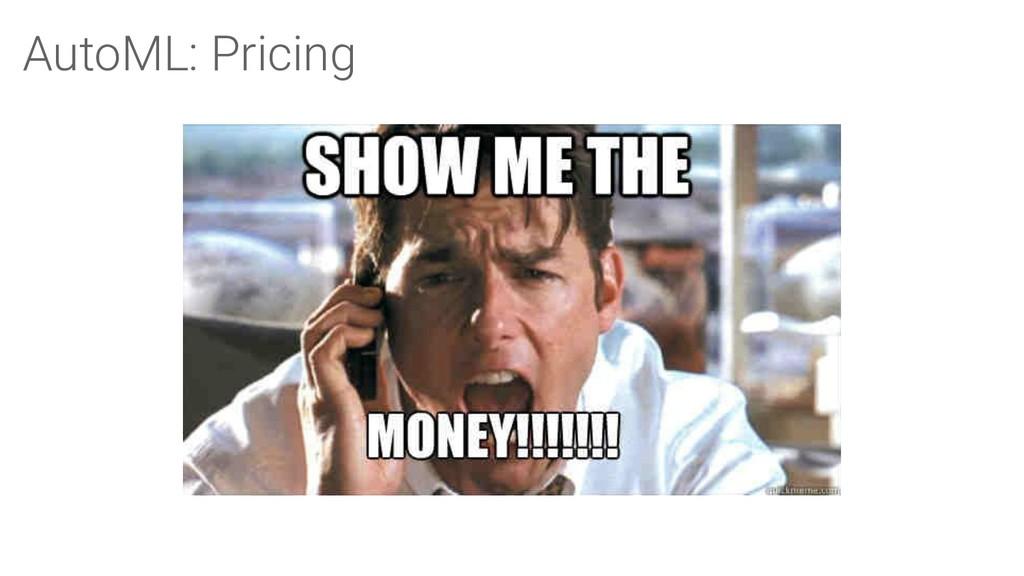 AutoML: Pricing