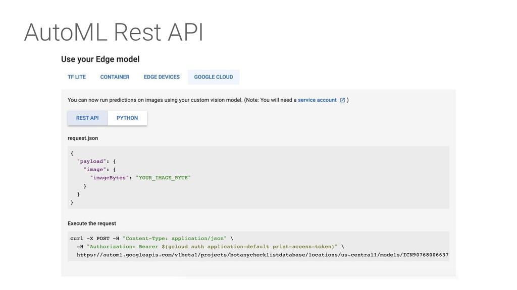 AutoML Rest API