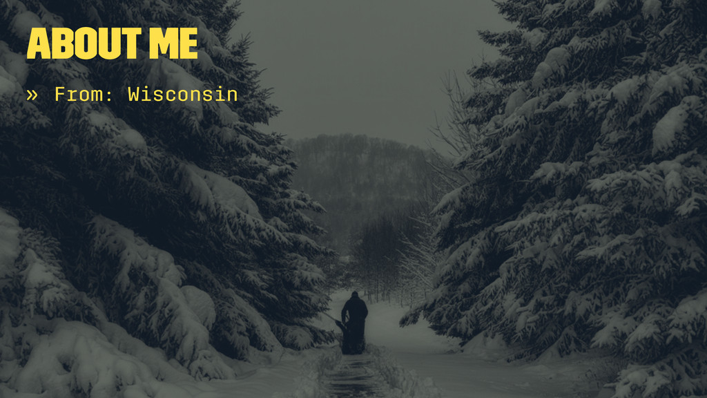 About Me » From: Wisconsin