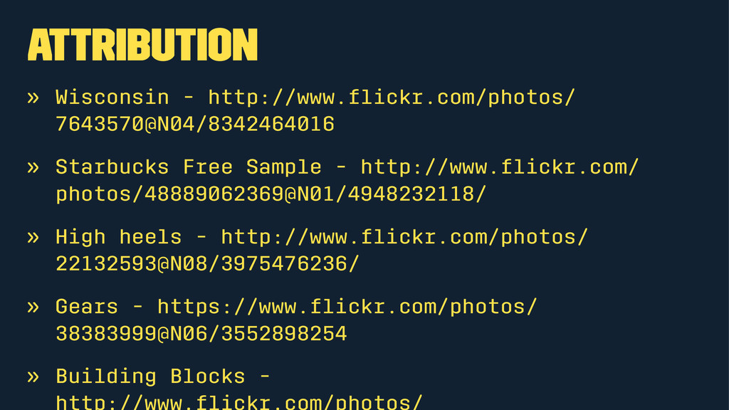Attribution » Wisconsin - http://www.flickr.com/...