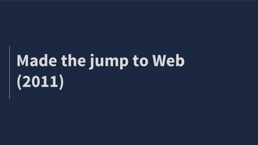 Made the jump to Web (2011)