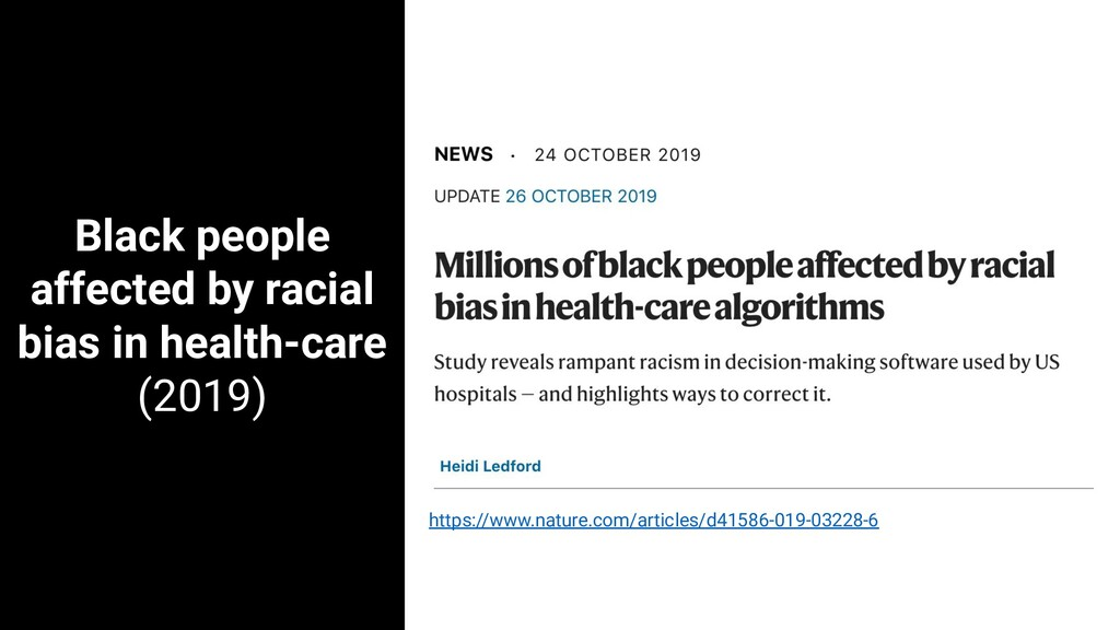 Black people affected by racial bias in health-...